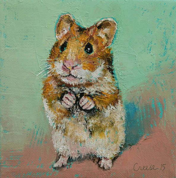 Mouse Painting - Hamster by Michael Creese