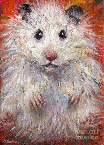 Hamster Drawing - Hamster Painting  by Svetlana Novikova