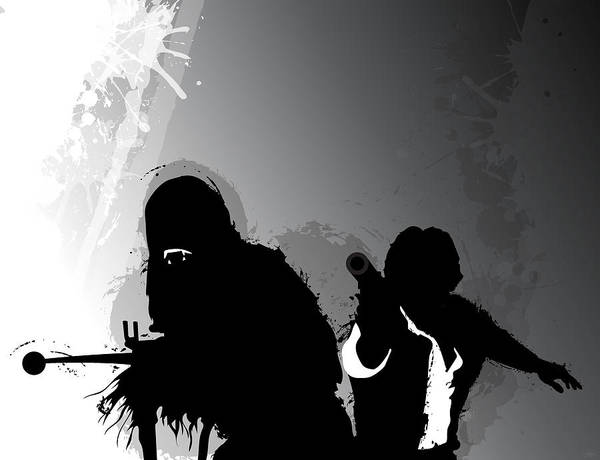 Han Solo Digital Art - Han And Chewie by Nathan Shegrud