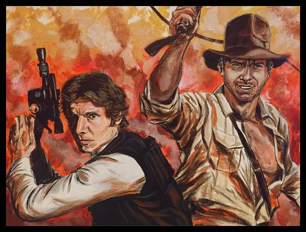 Han Solo And Indiana Jones Art Print