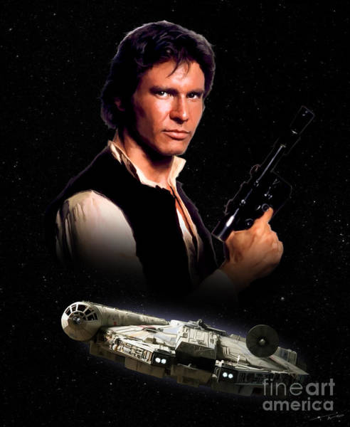 Star Wars Movie Painting - Han Solo by Paul Tagliamonte