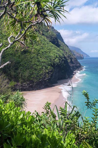 Wall Art - Photograph - Hanakapiai Beach - Kalalau Trail - Kauai Hawaii by Brian Harig