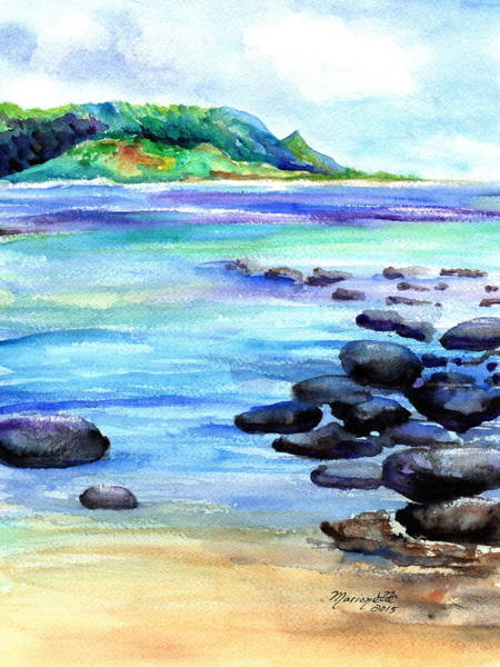 Painting - Hanalei Bay Love by Marionette Taboniar