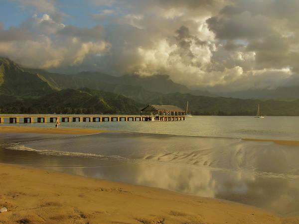 Wall Art - Photograph - Hanalei Bay Reflections by Stephen  Vecchiotti