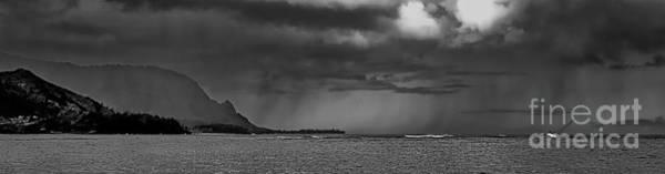 Photograph - Hanalei Bay Shipwreck Bali Hai Kauai Hawaii Bw by Tom Jelen