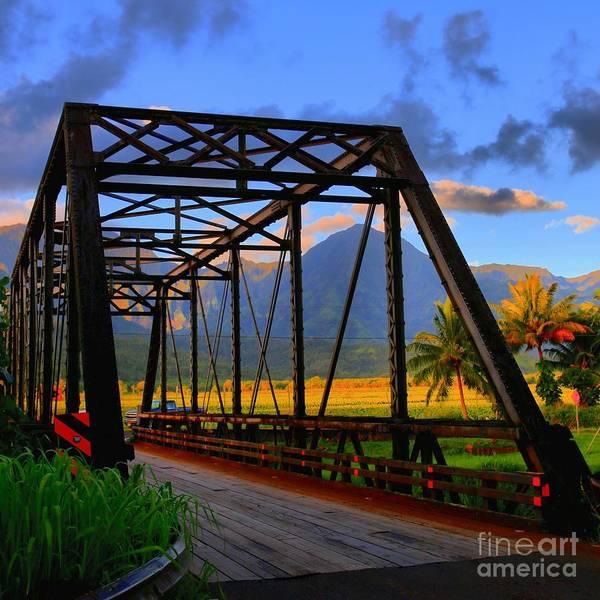 Hawaiiana Photograph - Hanalei Bridge by DJ Florek