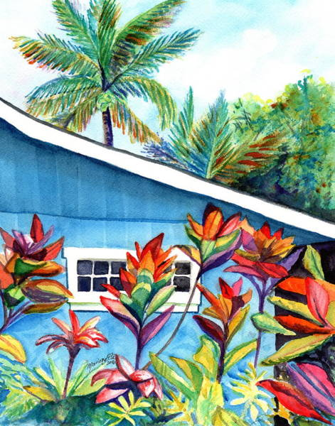 Hanalei Cottage Art Print