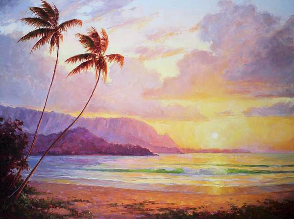 Wall Art - Painting - Hanalei Sunset by Jenifer Prince