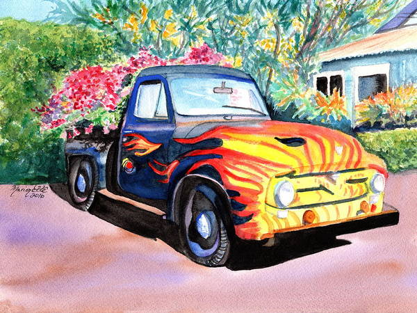 Painting - Hanapepe Truck 3 by Marionette Taboniar