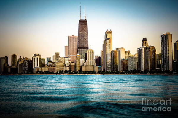 Hancock Building And Chicago Skyline Photo Art Print