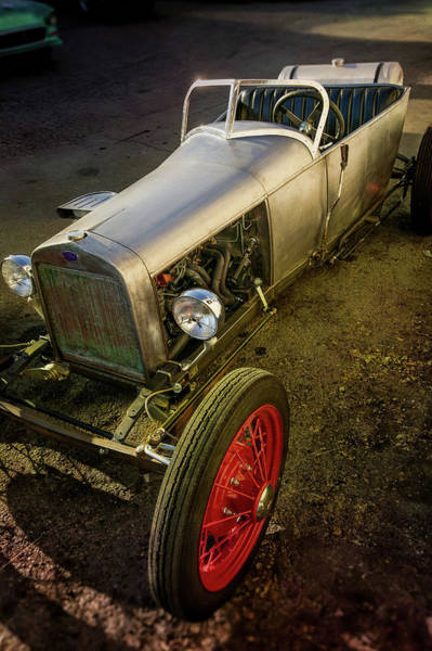 Pickup Man Photograph - Hand Built Track T Vintage Replica Hotrod by YoPedro
