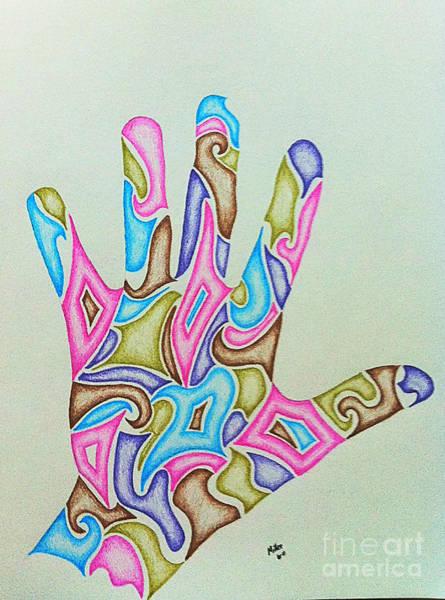 Michael Miller Wall Art - Drawing - Hand Eight by Michael Miller