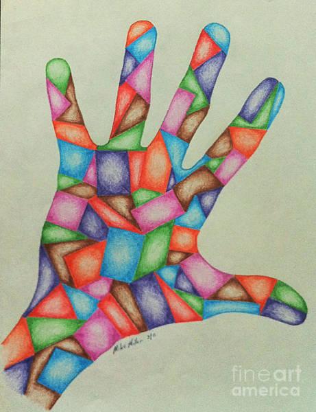 Michael Miller Wall Art - Drawing - Hand Five by Michael Miller