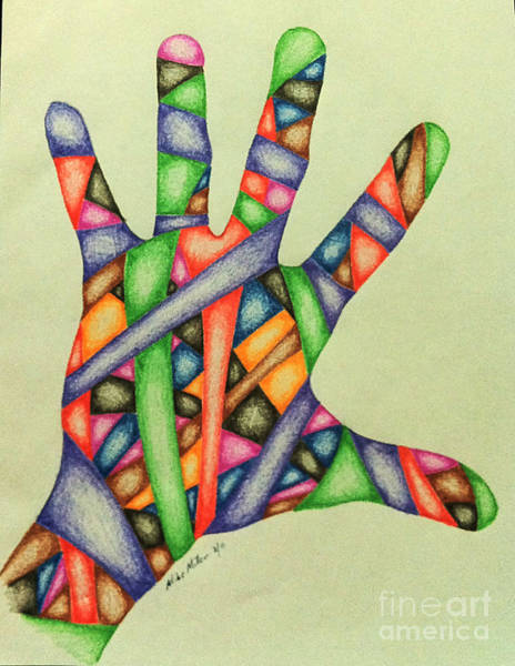Michael Miller Wall Art - Drawing - Hand Four by Michael Miller