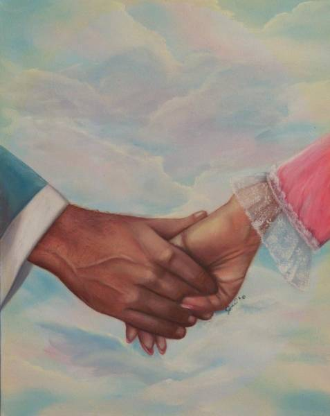 Painting - Hand In Hand Forever by Joni McPherson