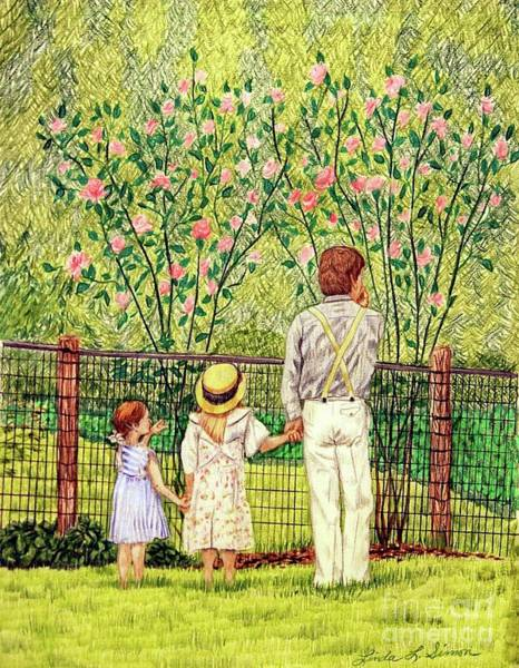 Blooming Tree Drawing - Hand In Hand by Linda Simon