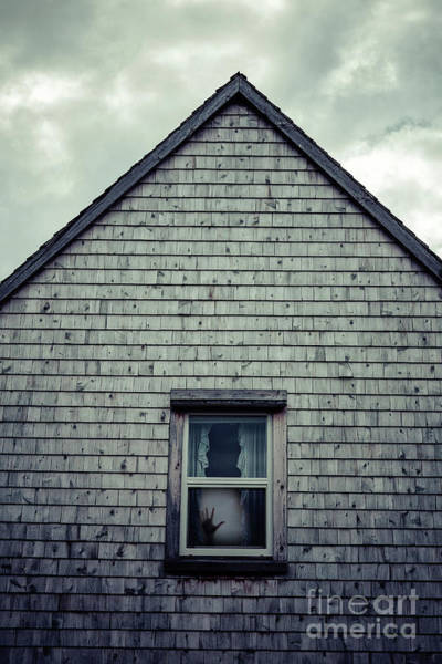 Haunted Wall Art - Photograph - Hand In The Window by Edward Fielding