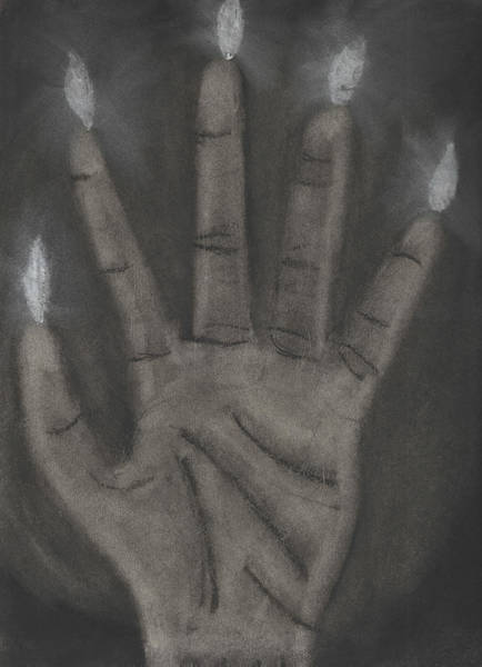 Sorcery Drawing - Hand Of Glory by Andrew Assaad