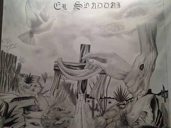 Wall Art - Drawing - hand of God by ARTuro Gutierrez