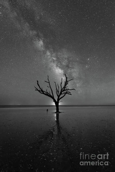 Wall Art - Photograph - Hand Of God Milky Way Portrait Bw  by Michael Ver Sprill