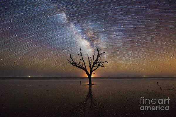 Wall Art - Photograph - Hand Of God Milky Way Star Trail  by Michael Ver Sprill