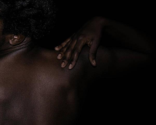 Photograph - Hand On Shoulder by David Kleinsasser