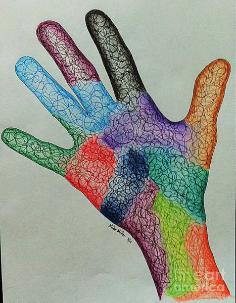 Michael Miller Wall Art - Drawing - Hand One by Michael Miller