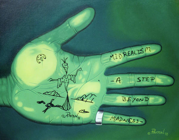 Painting - Hand Print by Paxton Mobley