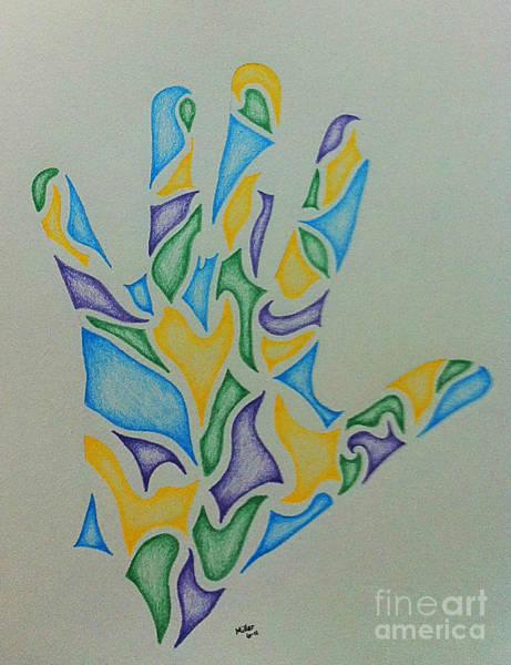 Michael Miller Wall Art - Drawing - Hand Seven by Michael Miller