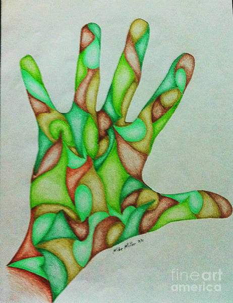 Michael Miller Wall Art - Drawing - Hand Three by Michael Miller