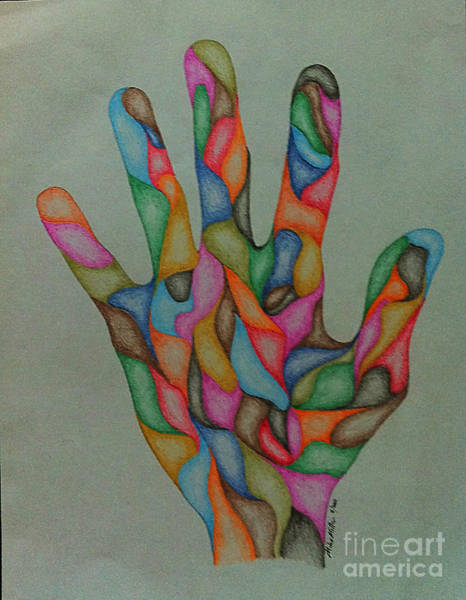 Michael Miller Wall Art - Drawing - Hand Two by Michael Miller