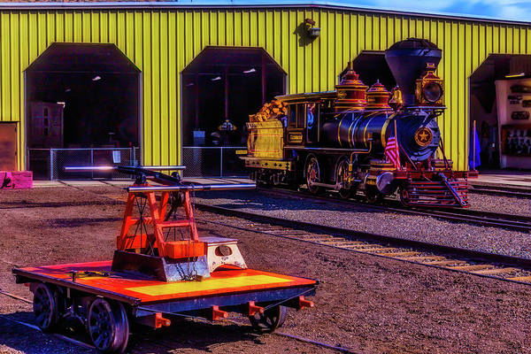 Wall Art - Photograph - Handcar And Old Train by Garry Gay