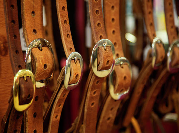 Wall Art - Photograph - Handcrafted Leather Belts by Toni Hopper