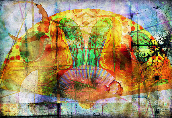 Mixed Media - Handheld Fan by Jolanta Anna Karolska