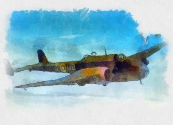 Bomber Painting - Handley Page Hampden Wwii  by Esoterica Art Agency