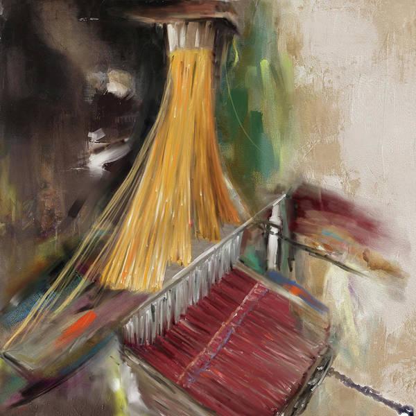 Punjab Painting - Handloom 192 1 by Mawra Tahreem