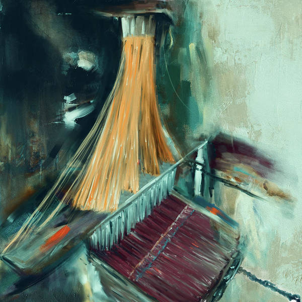 Punjab Painting - Handloom 192 2 by Mawra Tahreem
