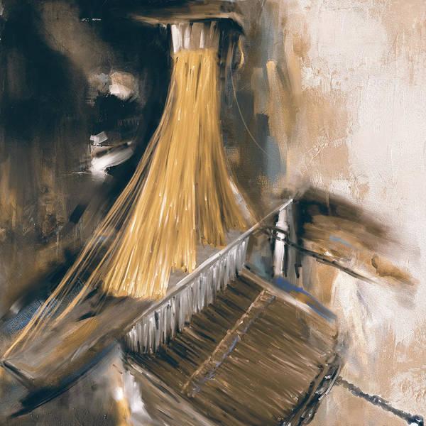 Punjab Painting - Handloom 192 3 by Mawra Tahreem