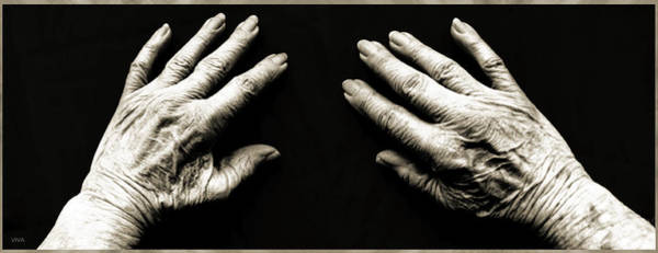 Photograph - Hands  -  Stark  Reality - Photo  by VIVA Anderson