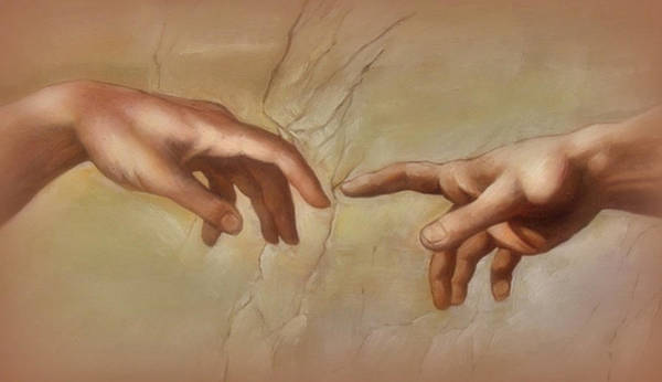 Sistine Chapel Wall Art - Photograph - Hands - From The Sistine Chapel by Lori Seaman