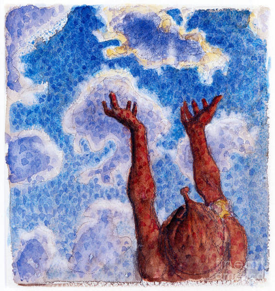 Untitled Painting - Hands Up by Celestial Images