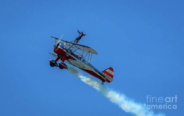 Photograph - Hands-up Wing Walker by Tom Claud