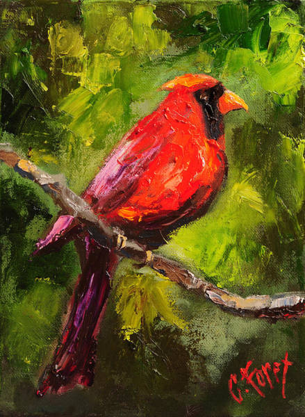 Wall Art - Painting - Handsome Red by Carole Foret