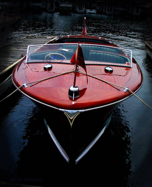 Photograph - Handsome Wooden Boat by Susan Vineyard