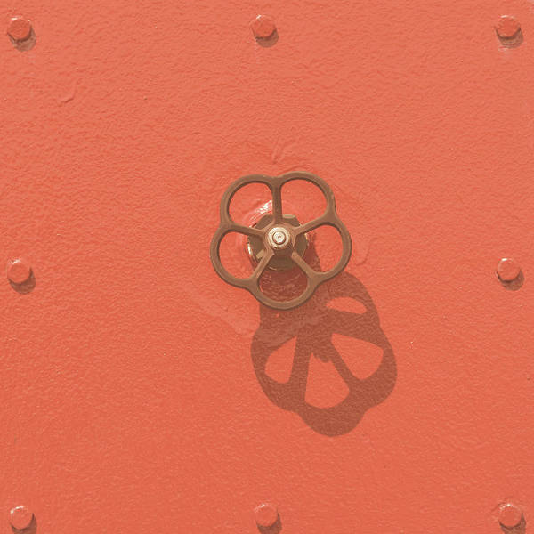 Photograph - Handwheel - Orange by Ari Salmela