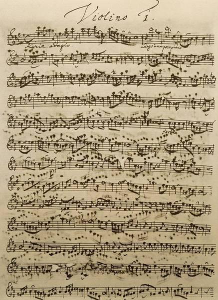 Compose Wall Art - Drawing - Handwritten Score For Mass In B Minor by Johann Sebastian Bach