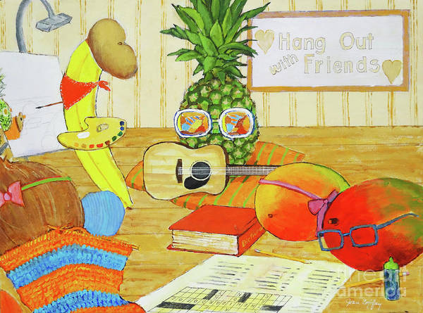Painting - Hang Out With Friends by Joan Coffey