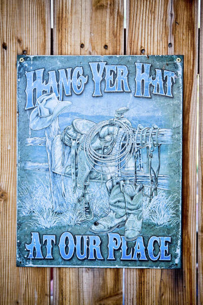 Photograph - Hang Yer Hat At Our Place by Tatiana Travelways