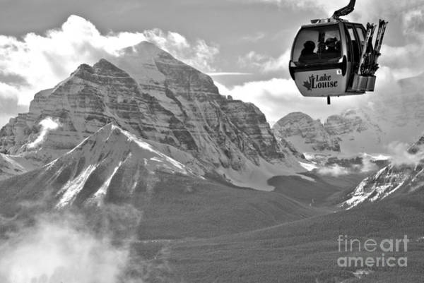 Photograph - Hanging Above The Canadian Rockies Black And White by Adam Jewell