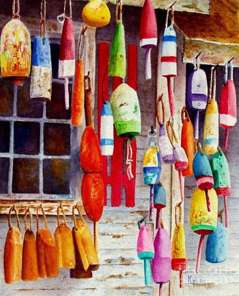 Painting - Hanging Around by Karen Fleschler